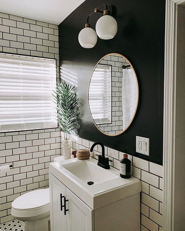 Small But Impactful Bathroom By @cozy.happy.home Featuring
