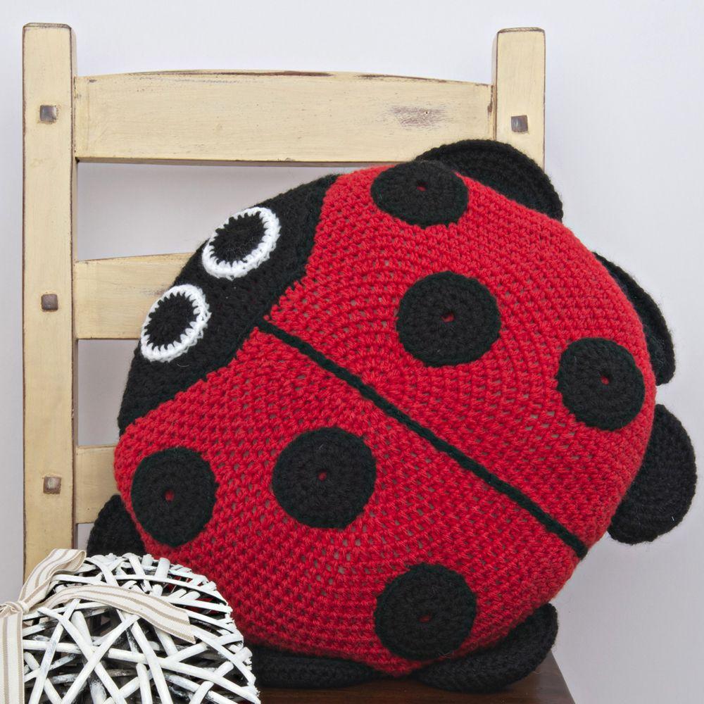 Ladybird Cushion Crochet Kit Crochet Ladybug Crochet Kit Crochet Projects