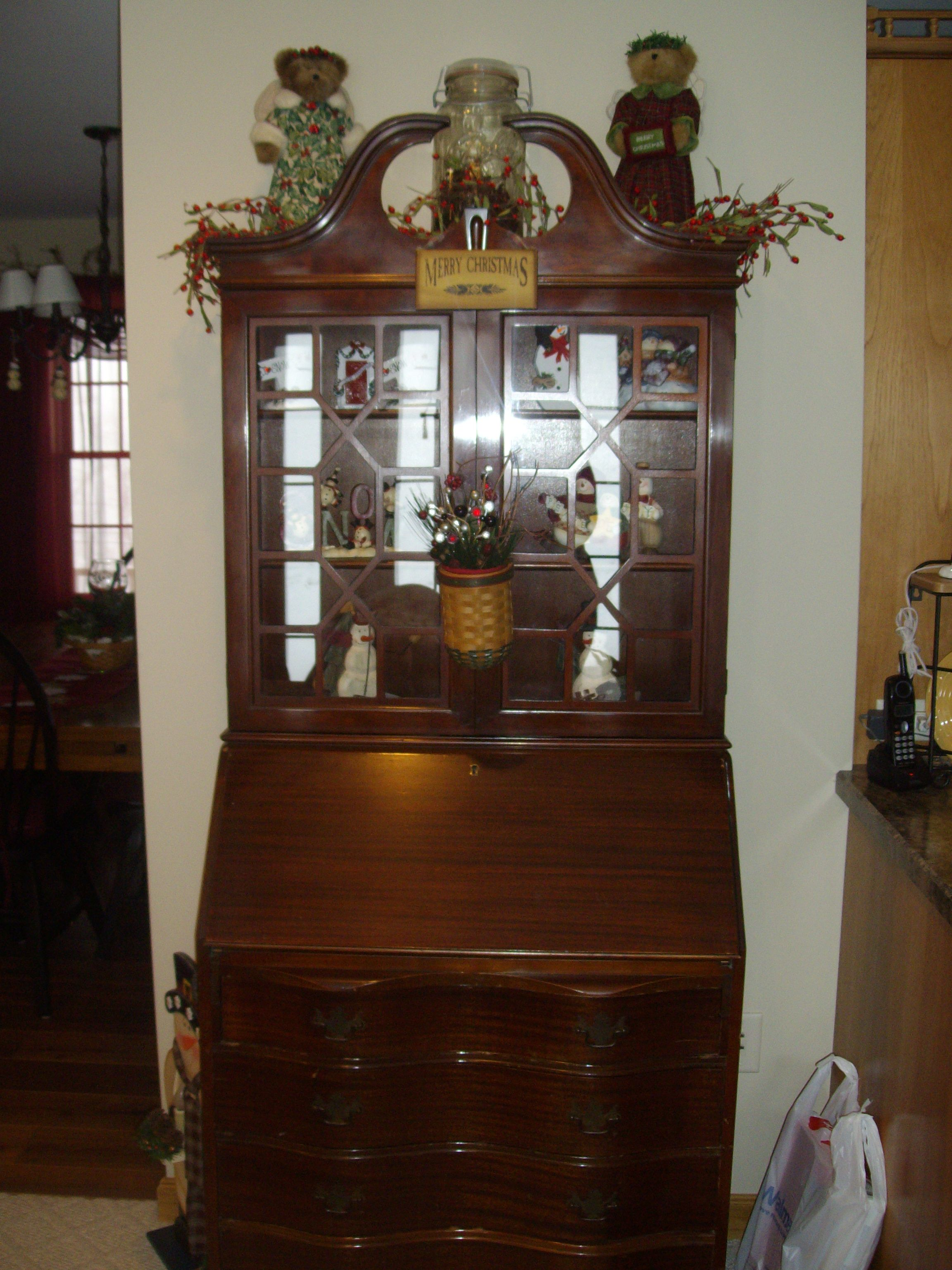 My Antique Secretary Desk Decorate For Christmas In 09