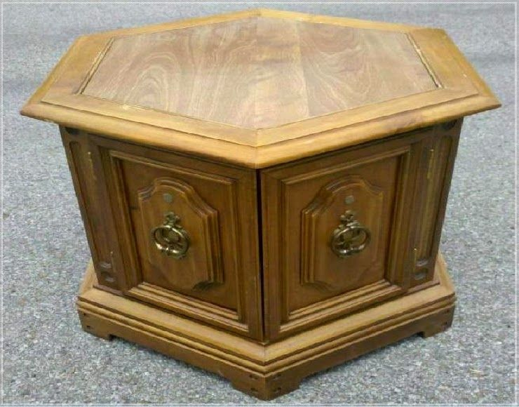 Hexagon End Table Needs Makeover Ideas Furniture Ideas