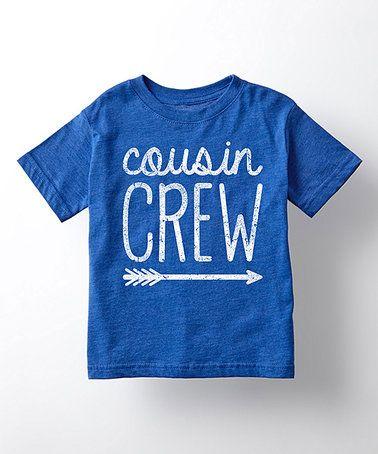 6591fff1d Look at this #zulilyfind! Royal Blue 'Cousin Crew' Tee - Toddler ...