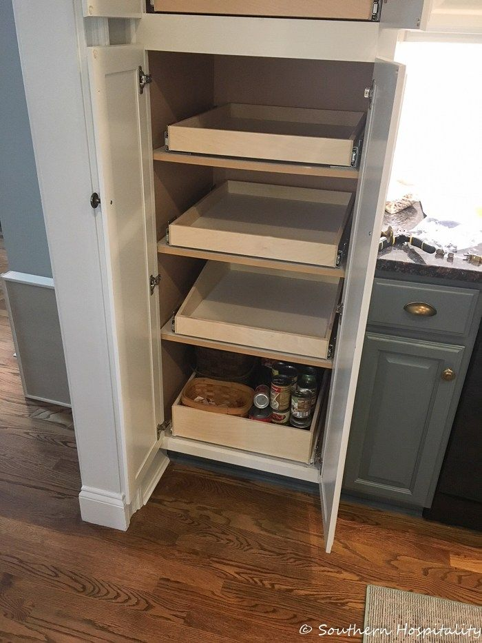 Installing Sliding Shelves in a Pantry - Southern ...