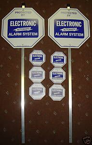 Home Security Signs Home Security System Alarm Yard Signs With