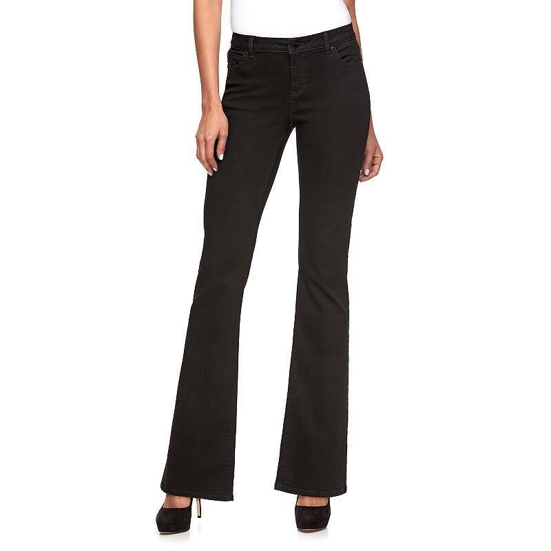 Black bootcut jeans size 16