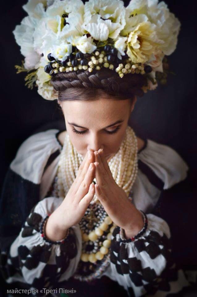 Ukrainian Style Ukrainian Wedding Ukrainian Dress Floral Headdress
