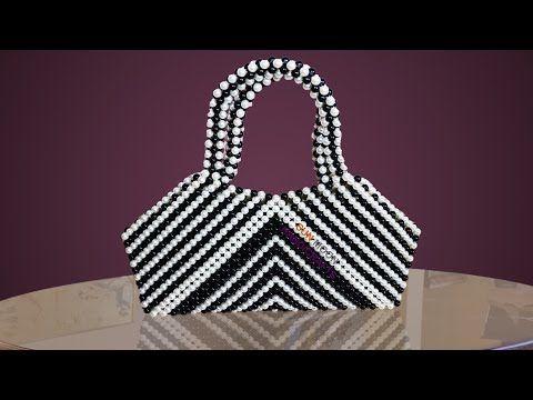 পুতির ব্যাগ  How to make beaded zebra bag  Beaded bag  putir bag  hand bag   hand purse  beaded work - YouTube 0566bf704a0ba