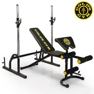 Gold S Gym Deluxe Maxi Weight Bench With Power Rack Weight Benches Golds Gym Power Rack