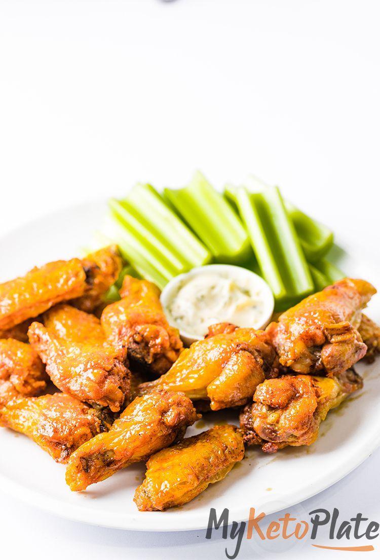 Crispy Air Fryer Chicken Wings with Buffalo Sauce - ( Keto ...