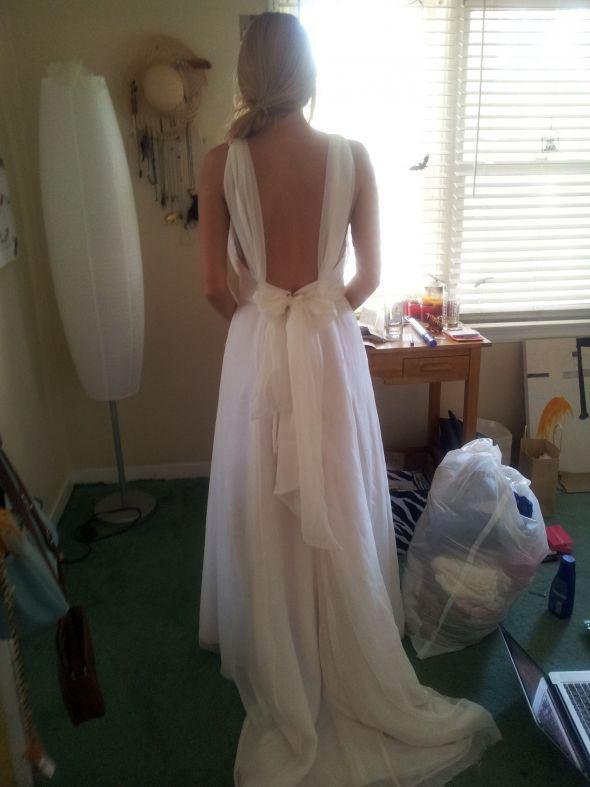My Homemade Dress Wedding Dress Sew Bakwards White Dress - Homemade Wedding Dress