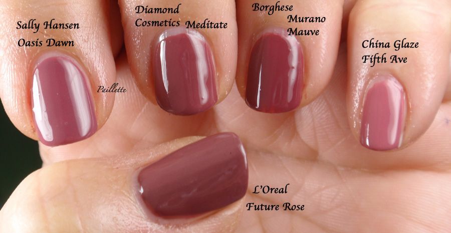Paillette A Little Nail Polish Journal Dusty Rose By Any Other Name