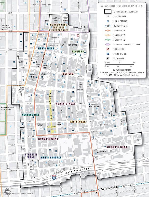 la fashion district a map guide to the fashion district dtla