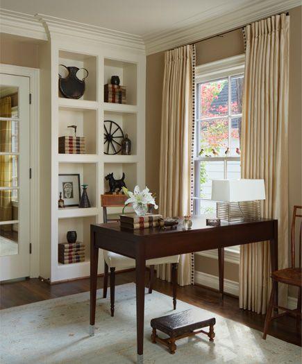 Custom millwork highlights a quiet corner of this living room For - wohnideen wohnzimmer streichen