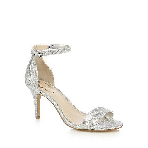 bc341b148a8 Debut Silver textured sandals
