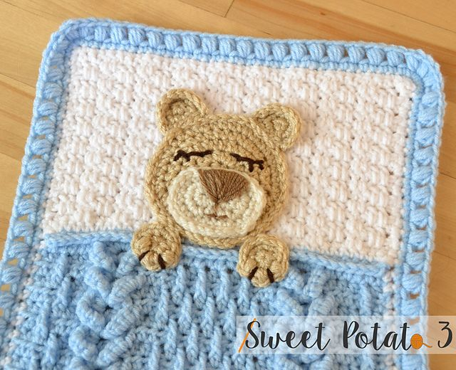 Sleep Tight Teddy Bear Blanket pattern by Sweet Potato 3 | Crochet ...