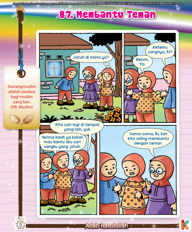 Komik Kepedulian Sosial : komik, kepedulian, sosial, Komik, Membantu, Teman, Komik,, Anak,