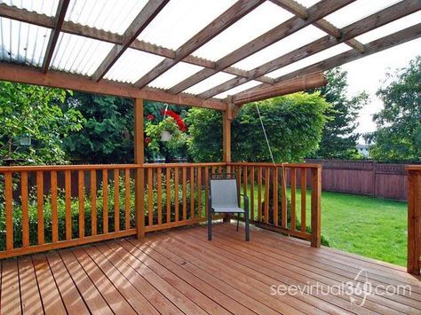 Deck Roof What Are My Options Roofing Diy Home Improvement Diychatroom I Can So Do This Muh Self Backyard Diy Deck Roofing Diy