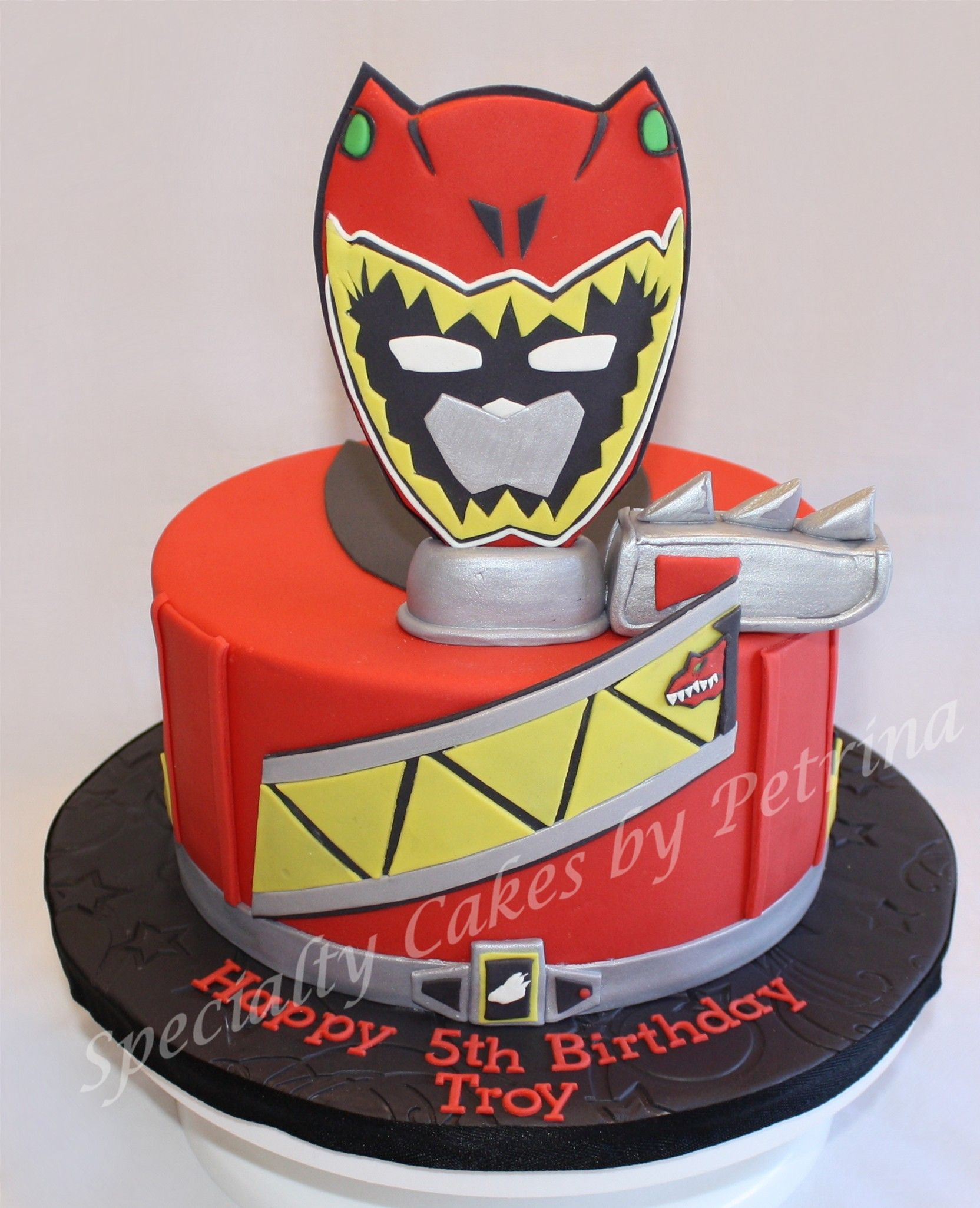 Dino Charge Power Ranger Cake With Images Power Ranger
