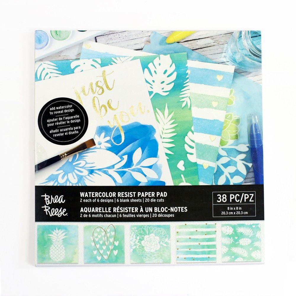 Brea Reese 38pc Watercolor Resist Paper Pad Paper Pads