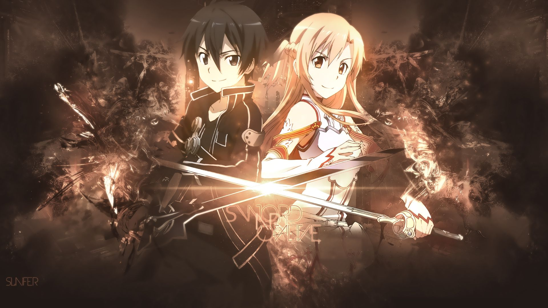 Sword Art Online Background In 2020 Sword Art Online Wallpaper Sword Art Online Kirito Sword Art Online Asuna