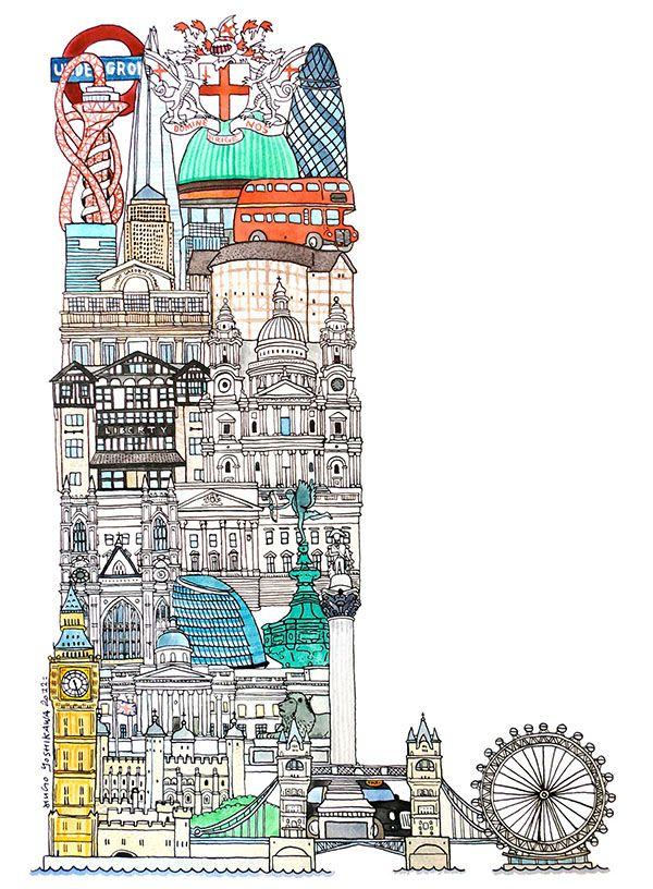 Abc Illustration Series Of European Cities Abc Illustration City Illustration Illustration