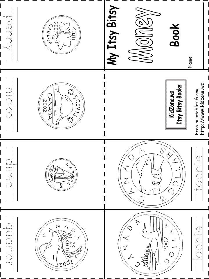 Canadian money coins book printable free | mini-books | Pinterest | Kind