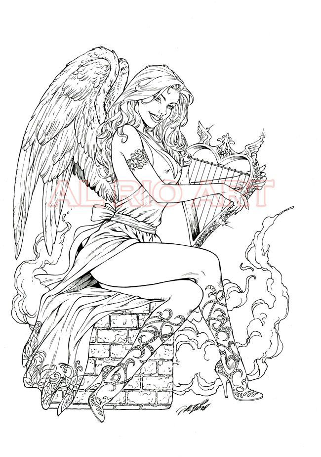 coloring pages of nacked girls - photo#9