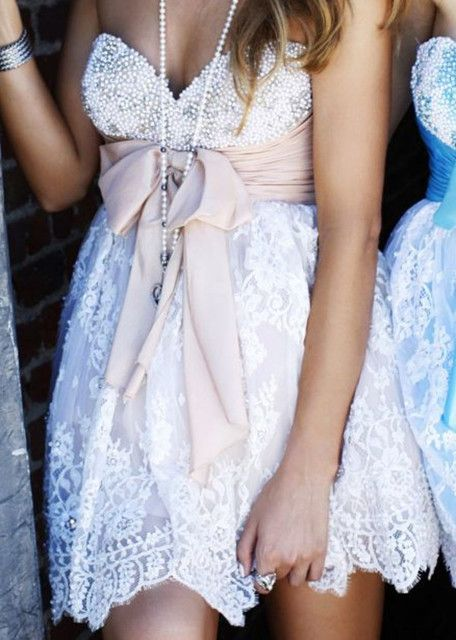 Cute country bridesmaid dresses u could use a different color bow for each one!!!!
