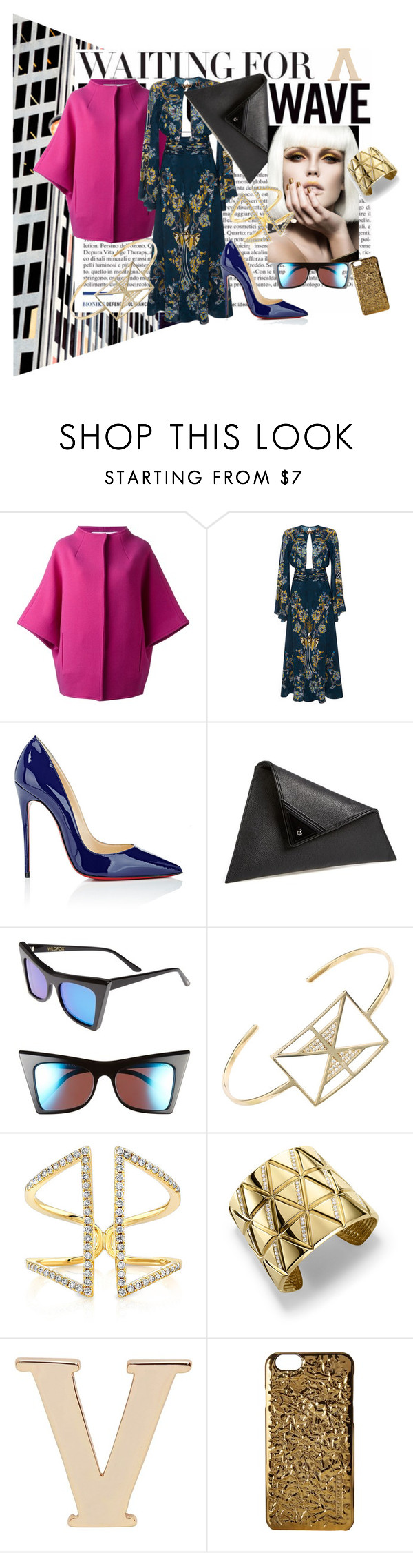 """How to Hail a Cab"" by successisbella ❤ liked on Polyvore featuring Gianluca Capannolo, Roberto Cavalli, Christian Louboutin, Sondra Roberts, Wildfox, Afew Jewels, Anne Sisteron, Marina B, Witchery and Marc Jacobs"