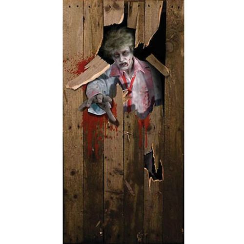 zombie scary Halloween Prop Party fancy dress DOOR POSTER decoration