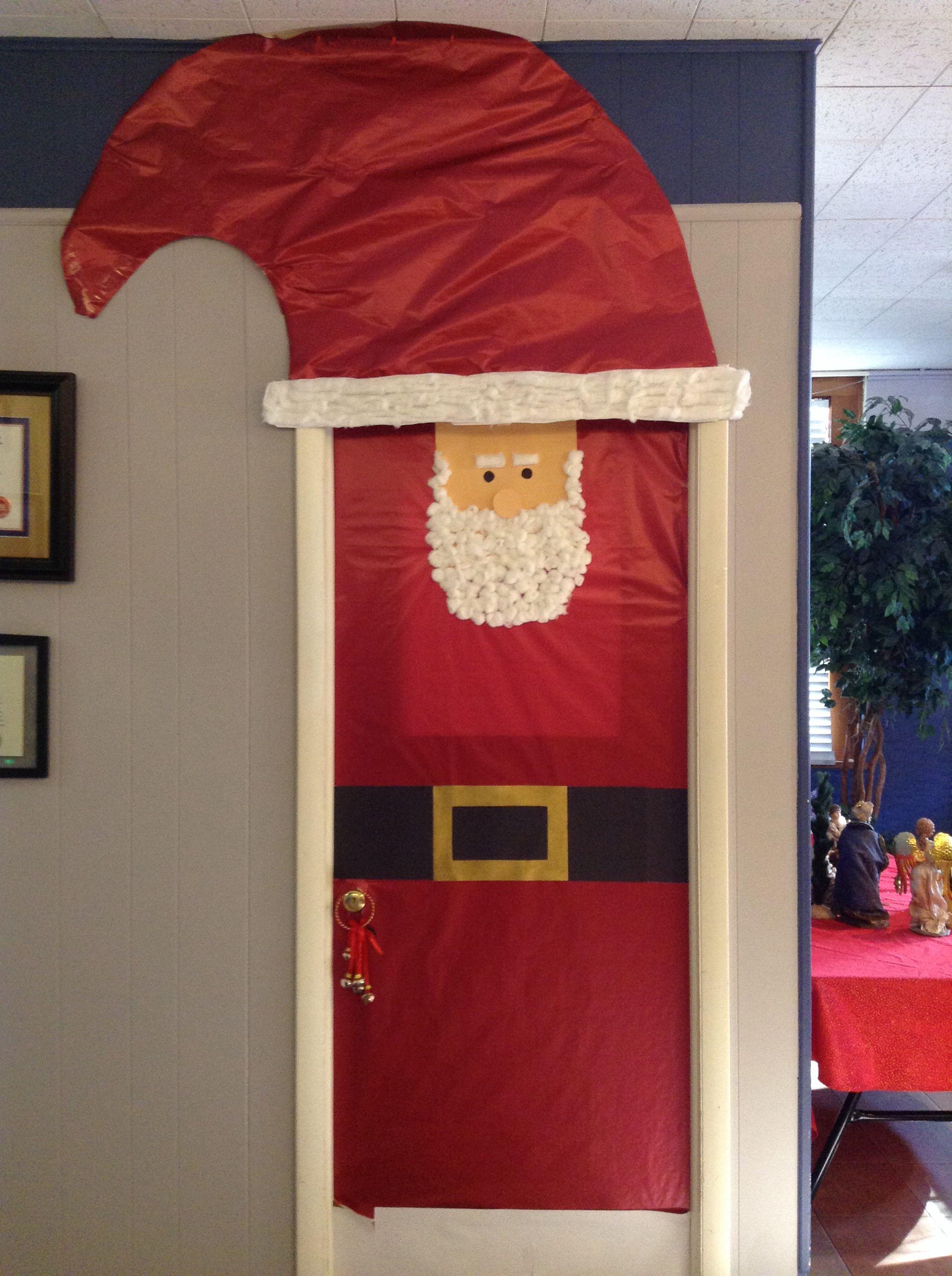 Cute Santa Door Door Decorations Decor Doors