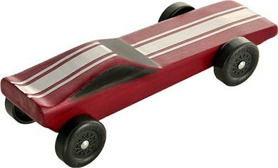 Pinewood Derby Car Funnycar Pre Cut Car Block Weighted Derby