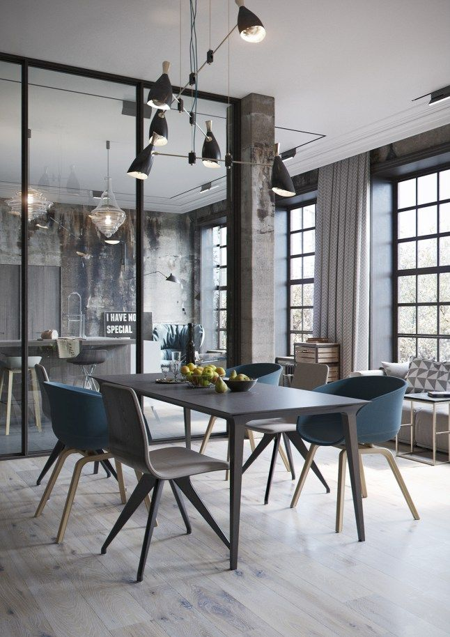 un loft de style industriel en allemagne planete deco a homes world d coration int rieure. Black Bedroom Furniture Sets. Home Design Ideas