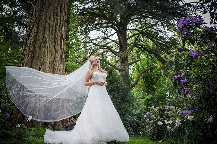 such a lovely shot of Emma in her Sophia Tolli Prinia gown - Style Y11552 - a strapless lace and tulle wedding dress with corset back