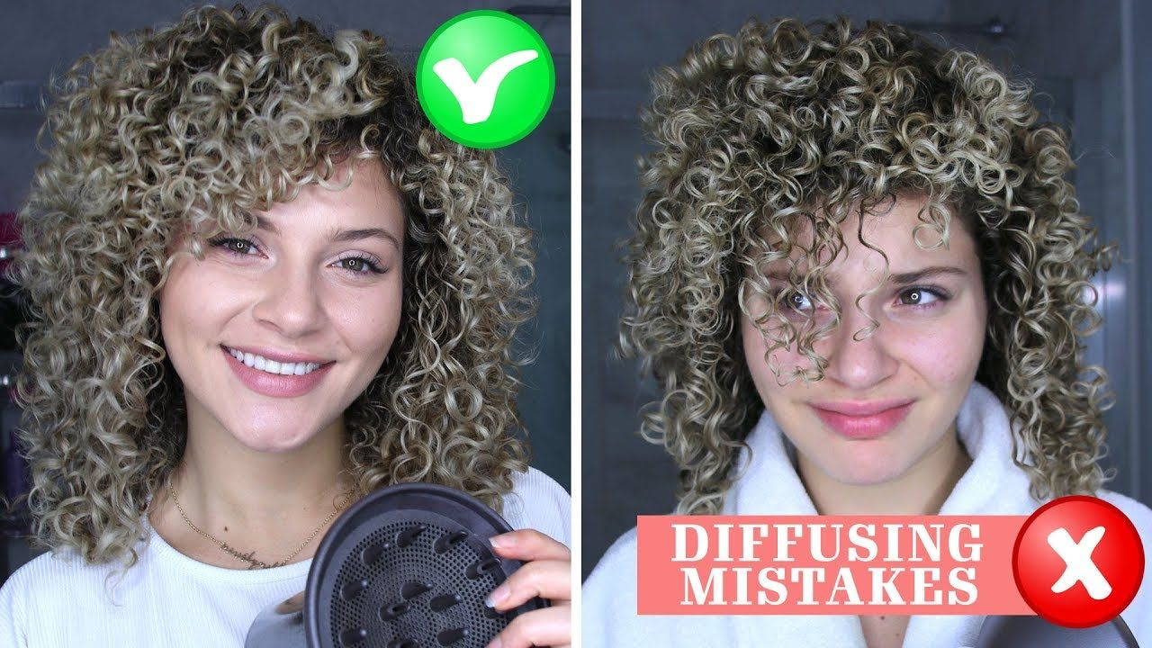 4 Curly Hair Diffusing Mistakes That Everyone Makes How To Fix Them Youtube Curly Hair Styles Curly Hair Styles Naturally Curly Hair Diffuser