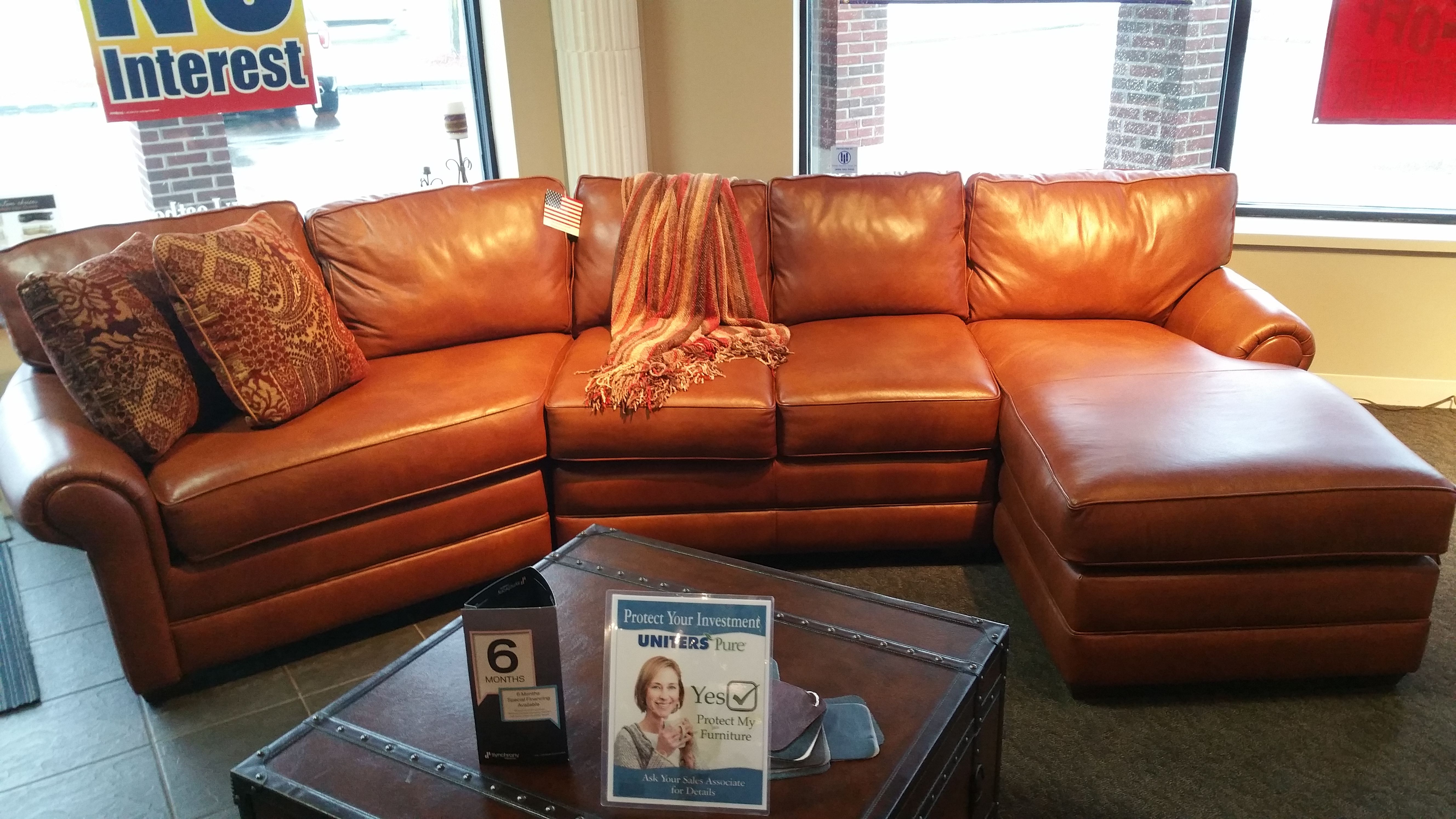 Old World Tan Saddle Color Customize This Sectional To Be L Shaped Rounded Or Simply A Sofa Loveseat Options Are Endless With The Custom