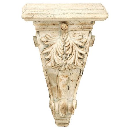 Elegant And Versatile This Grecian Inspired Corbel Is The Perfect Perch For A Flickering Lantern In The Foyer Or A Timel Corbel Shelf Corbels Old World Style