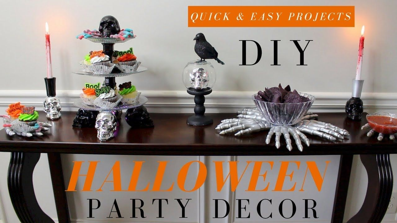 DOLLAR TREE HALLOWEEN PARTY DECOR DIY HALLOWEEN DECOR DIY SKULL - halloween decorations diy