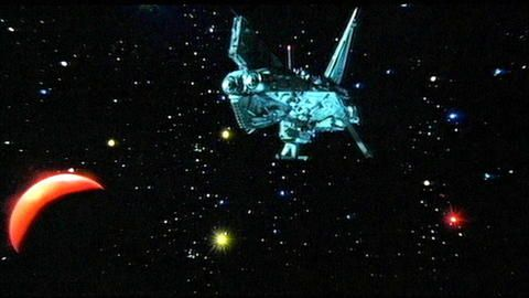 A space ship from Star Crash.