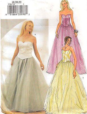 Wedding Bridesmaid Mother Bride Top Skirt Butterick Sewing Pattern ...
