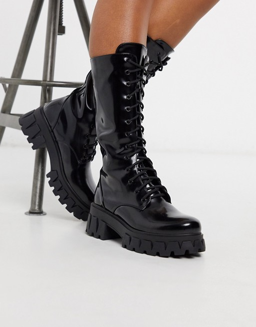 Koi Footwear Trinity vegan lace up mid