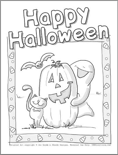 Cute Halloween Coloring Pages Halloween Coloring Pages Cute