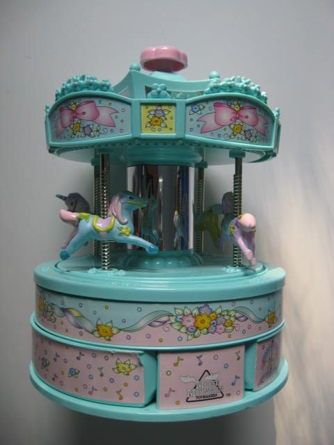 Moose Mountain toy carousel jewelry Musical box Vintage Carousel