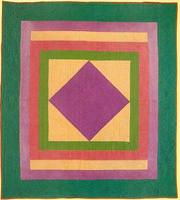 Amish Diamond in Square quilt, 1930s. | ideas. | Pinterest ... : amish diamond quilt pattern - Adamdwight.com