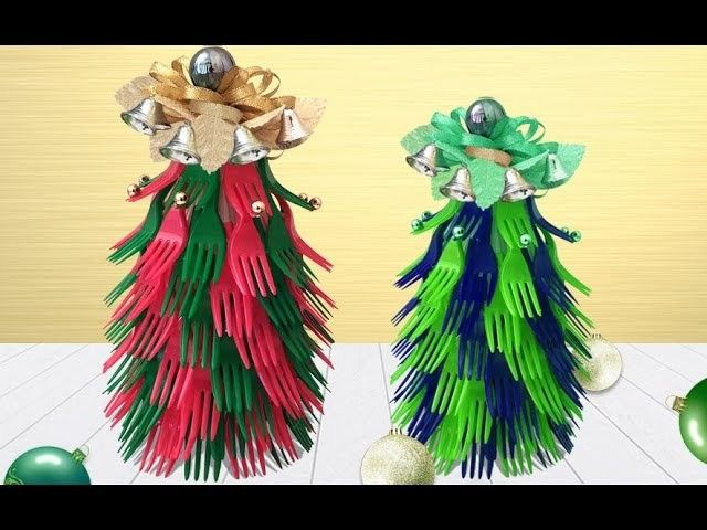 Very Unique Beautiful DIY Christmas Tree Using Plastic FORKS