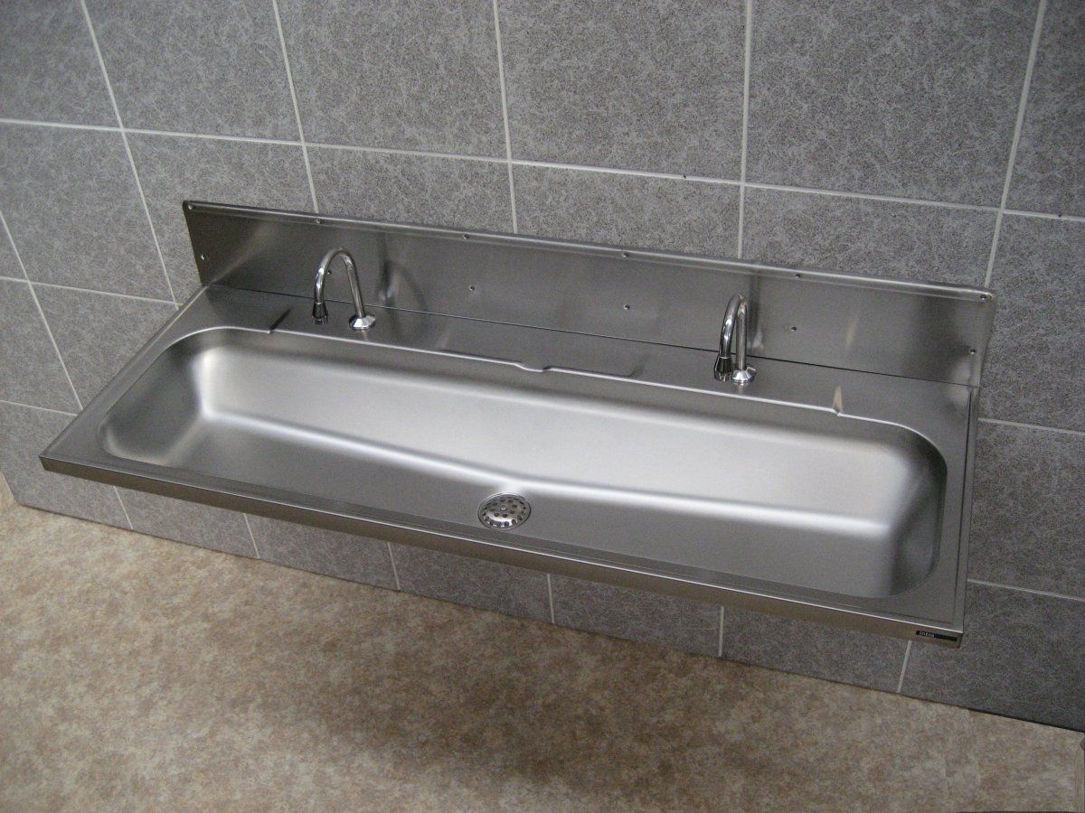 Get Inspired With Captivating Trough Sink That Will Transform Your - Stainless steel trough sink bathroom