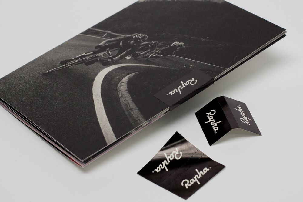 Rapha Winter Gifts u2014 12pp Folded Brochure Mood board bag - folded brochure