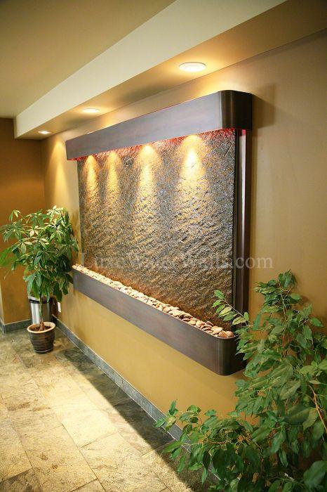 Large Indoor Slate Water Wall Fuente De Agua De Mesa Cascada De