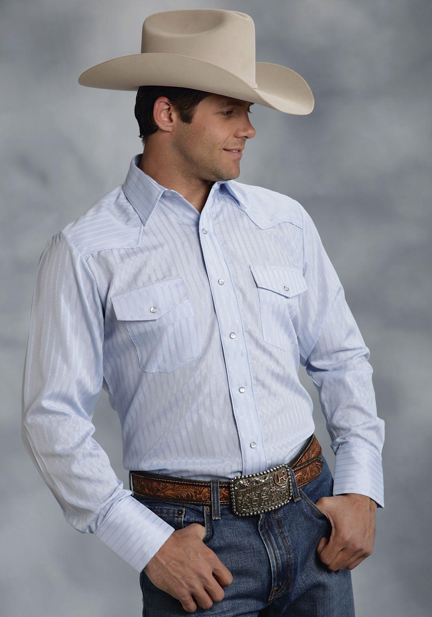 1970's Retro Western Shirt: 70s -Kennington- Mens white, navy, light blue,  orange and silver polyester cotton longsleeve western shirt with folding  collar ...