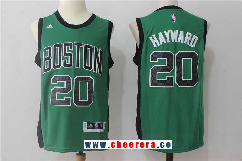 1ba74fd1532 Men s Boston Celtics  20 Gordon Hayward Green with Black Stitched NBA  adidas Revolution 30 Swingman Jersey