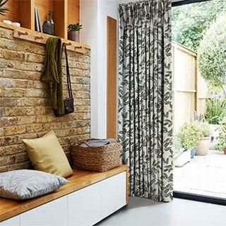 Green Dining Room Rooms Curtain Fabric Snug Bay Window Curtains Roman Blinds Living Ranges Master Bedrooms